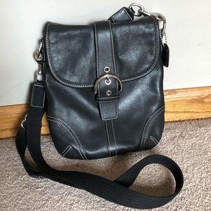 Coach Black Leather Soho Cross Body Bag